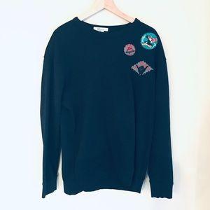 Cool max Lucky Brand Black Pullover Sweatshirt XL